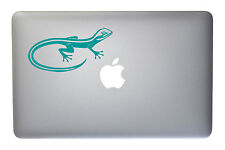 Wild Gecko Lizard - 5 Inch Turquoise Vinyl Decal for Macbook, Laptop