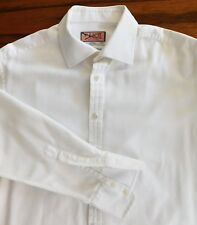 Thomas Pink white Jermyn St shirt herringbone twill Collar size 16.5 long sleeve