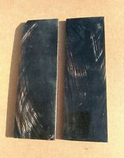 Pair of  Dark Horn Scales For Knife Handle etc 160 x 50 x 4  White streaks