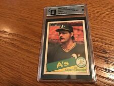 1985 Topps Box Set Collector's Edition (Tiffany) #422 Carney Lansford Card GAI 8
