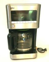 Braun Brewsense 12-Cup Drip Coffee Maker KF7170 Stainless Steel 120v -Tested