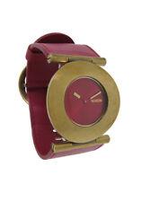 Nixon A234 477 Superior Women's Round Ruby & Burgundy Leather Analog Watch