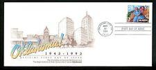 US FDC #2722 University of Central OK Cachet Oklahoma Musical 3/30/1993 City OK
