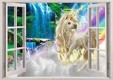 Fantasy Unicorn 3D Window Wall Sticker Art Decal Mural 1237