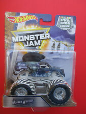 HOT WHEELS MONSTER JAM SPECIAL HOLIDAY EDITION *MOHAWK WARRIOR* SNOW TREADS NEW!