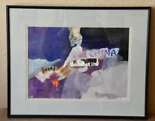 Mix Media Collage Wall Art Design Signed by Artist Jeanine Shanahan