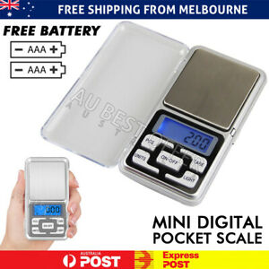 Pocket Digital Mini Scales 0.01 500g Precision Weight Balance Gram Jewellery AU