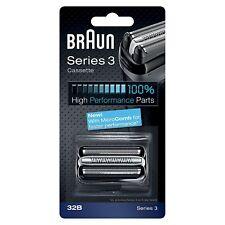 Braun 32B Series 3 Electric Shaver Replacement Foil & Cassette Cartridge, Black