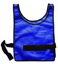 Adjustable Heavy Weight Scrimmage Vests Blue - Football Soccer Lacosse Baseball
