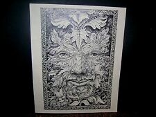 "RON WALOTSKY SIGNED BLACK & WHITE  PRINT ""THE BENEDICTIONS of PAN""  ART NOUVEAU"