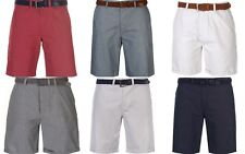 New Pierre Cardin Mens Gents Belted  Shorts Bottoms Clothing M - 2XL