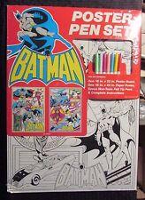 """1989 BATMAN POSTER PEN SET Sealed 16x22"""" vs Joker & Riddler"""