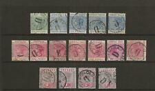Grenada 1883-95 good to fine used selection of postymarks (16)