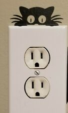 peeking cat light switch accessory Cut Vinyl Sticker/Decal
