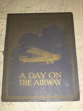 Extremely Rare A DAY ON THE AIRWAY. IMPERIAL AIRWAYS Large Cigarette Album c1928