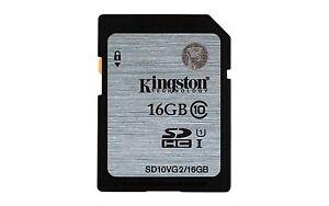 Kingston 16 GB UHS Class 1/Class10 SDHC Flash Memory Card