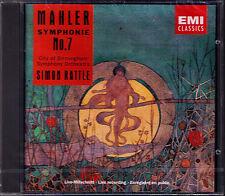 Sir Simon RATTLE: MAHLER Symphony No.7 CBSO EMI CD 1992 Sinfonie Birmingham