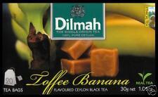 Dilmah Tee-Toffee Banana flavoured black Ceylon Tea 20 bustina del tè