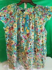 Blouse Relativity Light Weight Floral SZ 2X NEW NWT Orig $68.00