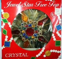 """9"""" COLORFUL 11-Light JEWELED Lighted CHRISTMAS STAR TREE TOPPER 209-MULTI NEW"""