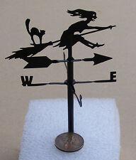CASA Bambole 1:12 METALLO NERO un pezzo WITCH Weather Vane Miniatura Accessorio