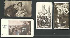4 Estampas antiguas de San Antonio de Padua andachtsbild santino holy card