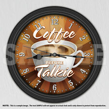 Coffee Time Decorative Wall Clock - Kitchen Decor - Coffee Shop Decor