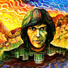 """Benda stampato /Iron """"on patch, Back / Patch, Traliccio Di Neil Young, new, B"""