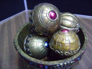 Orbs Set Home Decor, Table Decor, SEVEN Piece Decorative bowl of 6
