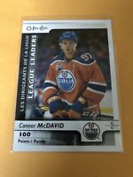 connor mcdavid 2017/18 O Pee Chee League Leaders Card