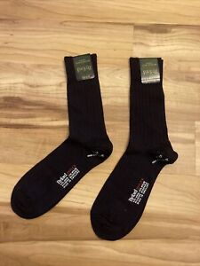 VTG NWT Byford Byflex Men's Socks Navy sz 10.5- 13, Made in England's, pack of 2