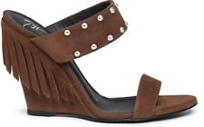 New display $705 Guissepe Zanotti Fringed Suede Leather Wedge S 36 NWOB Studded