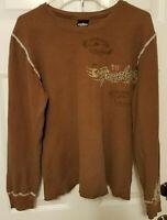 Lynyrd Skynyrd Freebird Since 1972 Brown Adult Men's Thermal Shirt Sz L 2005