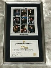 Star Trek The Next Generation All Good Things 1987-1994 Official Stamps Plaque
