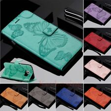 Butterfly Card Wallet Leather Flip Case Cover For Samsung Galaxy S9 S8 S7 S6 S5