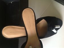 Low Heel Black Suede Tassel Slide Size11 new with the box