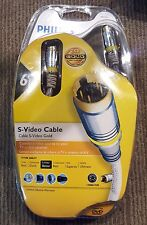 New Philips 24K S-Video 6' Patch cable M62791