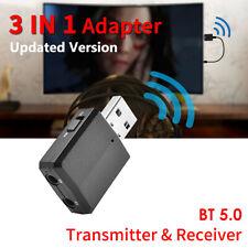 3 IN 1 BLUETOOTH 5.0 WIRELESS RICEVITORE USB ADATTATORE AUDIO TRASMETTITORE Q1B8