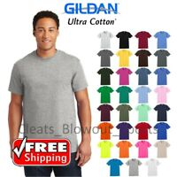 Gildan Ultra Cotton Mens Short Sleeve T Shirt Tee Blank Solid Soft S-5XL G200
