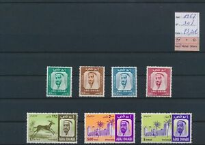 LO14067 Abu Dhabi 1967 historical figures fine lot MNH cv 83,2 EUR