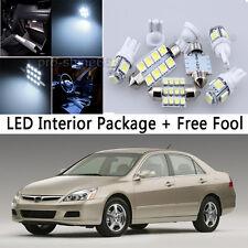 9X Bulb Car LED Interior Lights Package kit For 2003-2007 Honda Accord White NQ