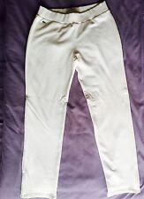 New W/Tags 100% Authentic Lacoste Women's Cotton Pants Creme Size 42