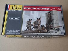 Heller WWII British Infantry. Scale 1.72. Infanterie Britannique 50 pieces