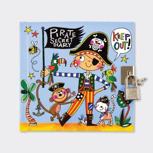 Rachel Ellen Boys Pirate Secret Lockable Diary - Boys Pirate Diary - Boys Gift