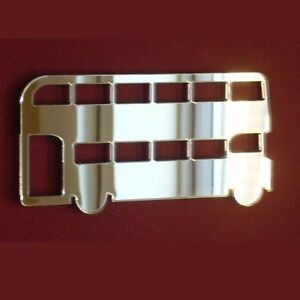 Double Decker Bus Acrylic Mirror (Several Sizes Available)