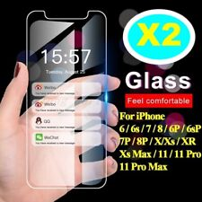 Phone 11 Pro XS Max XR X 8 7 6 S Plus Tempered Glass Screen Protector for Apple