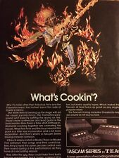 Teac Tascam Mixing Console, Full Page Vintage Print Ad
