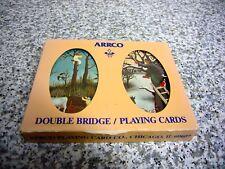 New Vintage Arrco Plastic Coated Double Bridge Playing Cards 600-2PP farm Oxen