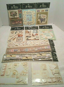 "Lot of 9 ""La Petites"" Stickers 3-D Assorted Sticker Sheets ""NEW"" Scrapbooking"