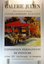 F. NOVARINO expose Galerie Julien Le Castellet  AFFICHE ORIGINALE/20PB
